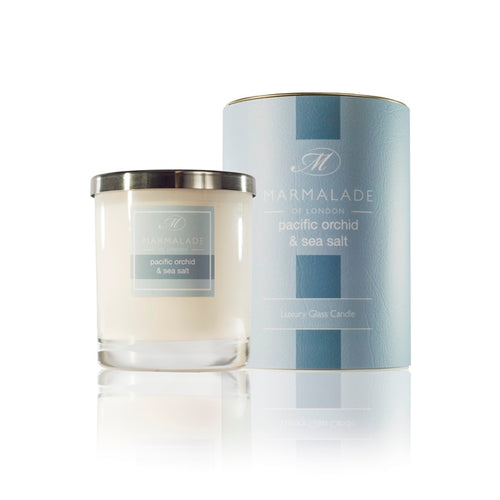 Marmalade Of London Pacific Orchid & Sea Salt Luxury Glass Candle