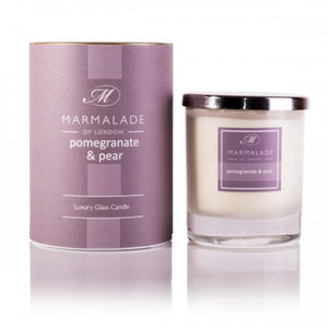 Marmalade Of London Pomegranate And Pear Luxury Glass Candle