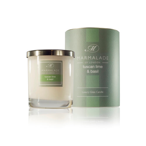 Marmalade Of London Tuscan Lime & Basil Luxury Glass Candle