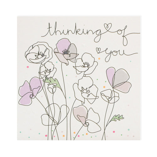 Thinking Of You Card By Belly Button Designs