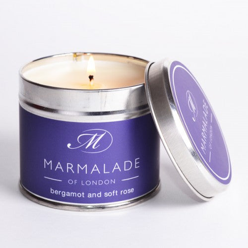 Marmalade Of London Bergamot And Soft Rose Medium Tin Candle