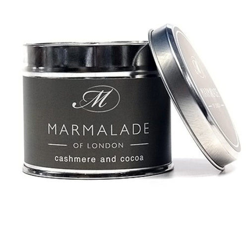 Marmalade Of London Cashmere And Cocoa Medium Tin Candle