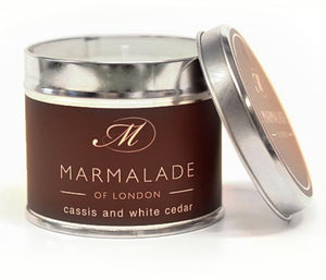 Marmalade Of London Cassis And White Cedar Medium Tin Candle