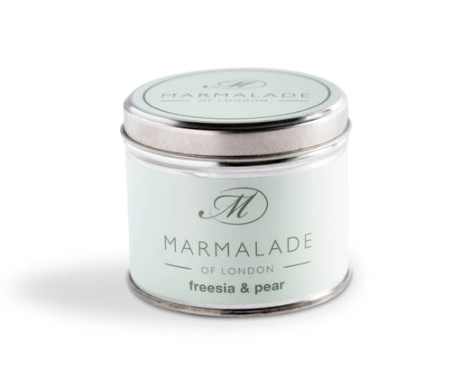 Marmalade Of London Freesia And Pear Medium Tin Candle
