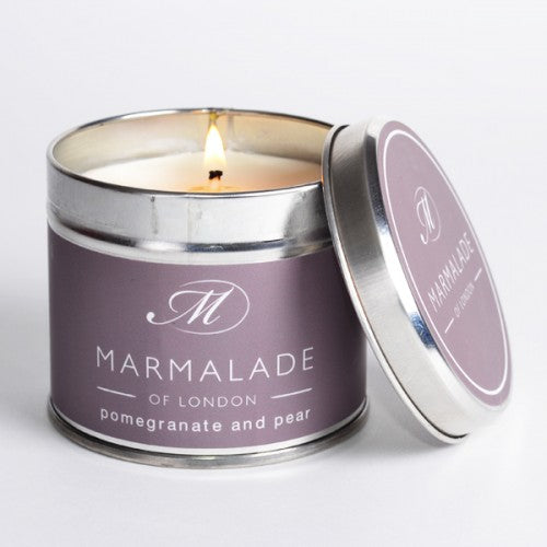Marmalade Of London Pomegranate And Pear Medium Tin Candle