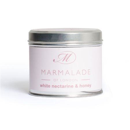 Marmalade Of London White Nectarine And Honey Medium Tin Candle