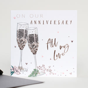 On Our Anniversary All My Love - Belly Button Designs