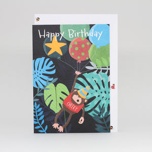 Happy Birthday Monkey - Belly Button Designs