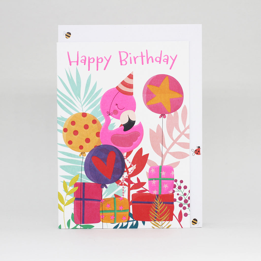 Happy Birthday Flamingo - Belly Button Designs