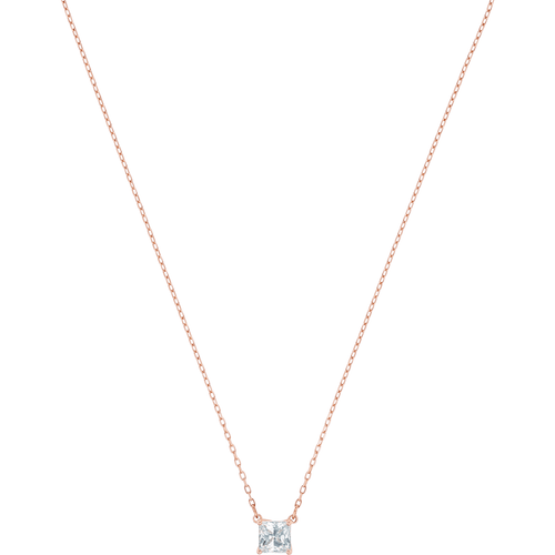 Swarovski Attract Square Necklace, White, Rose-gold Tone Plated POS