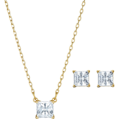 Swarovski Attract Square Set Gold-Tone Plated POS