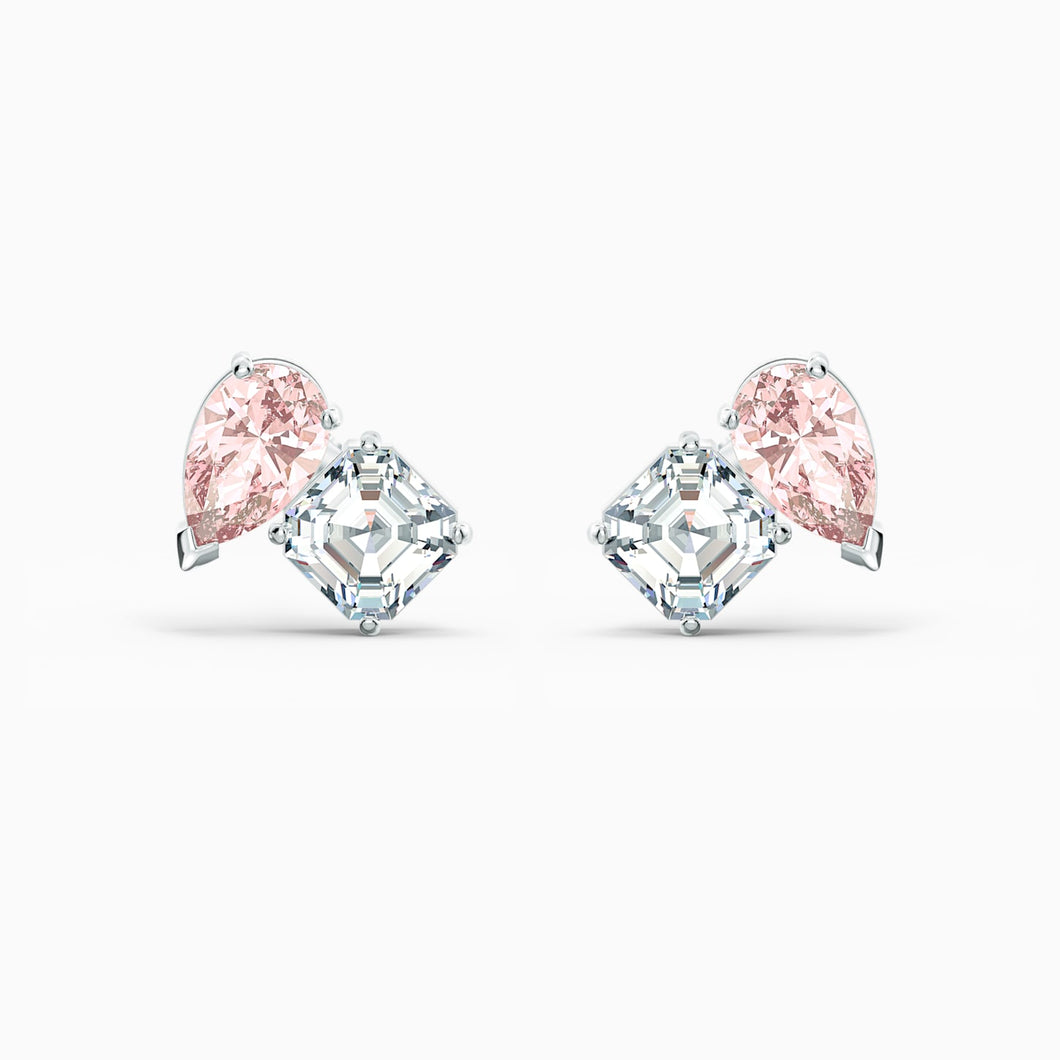 Swarovski Attract Soul Pierced Earrings, Light Pink