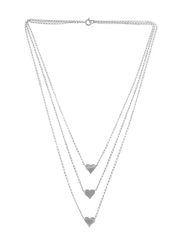 Tianguis Jackson Triple Hearts Strand Necklace
