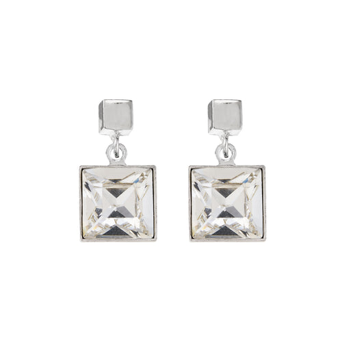 Coeur De Lion Square Earrings With Swarovski Crystal
