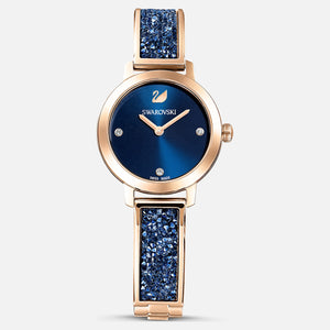 Swarovski Cosmic Rock Watch Bracelet, Blue, Rose Gold Tone