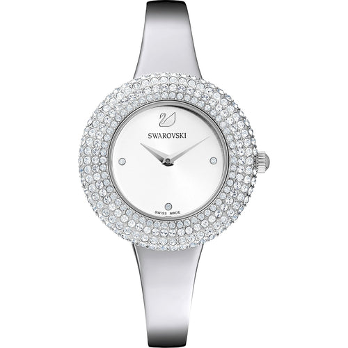 Swarovski Crystal Rose Watch, Metal bracelet, Stainless steel