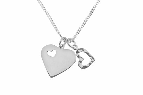 Tianguis Jackson Double Heart Pendant