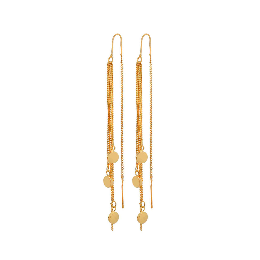 Dansk Smykkekunst Vanity Triple Earrings Gold