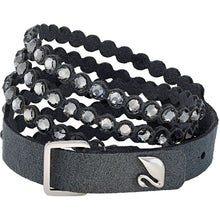 Load image into Gallery viewer, Black Swarovski Power Bracelet