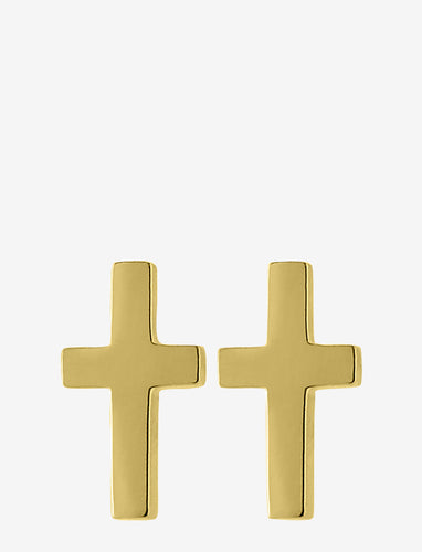 Edblad Cross Studs Gold Plated