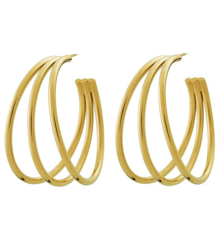 Edblad Echo Creole Earrings Gold Plated