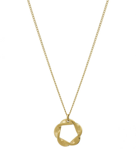 Edblad Swirl Small Necklace Gold Plated