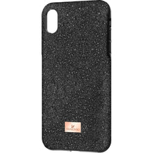 Load image into Gallery viewer, Swarovski iPhone X Max Case Black