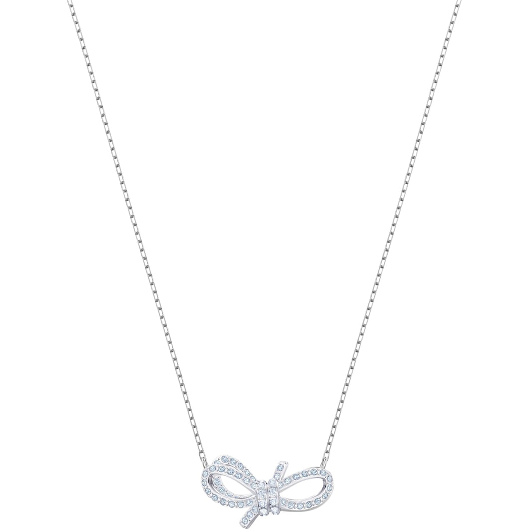 Swarovski Lifelong Bow Pendant Small, Rhodium