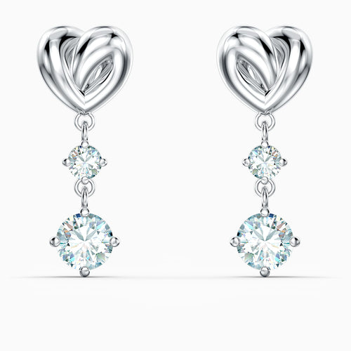 Swarovski Lifelong Heart Drop Earrings