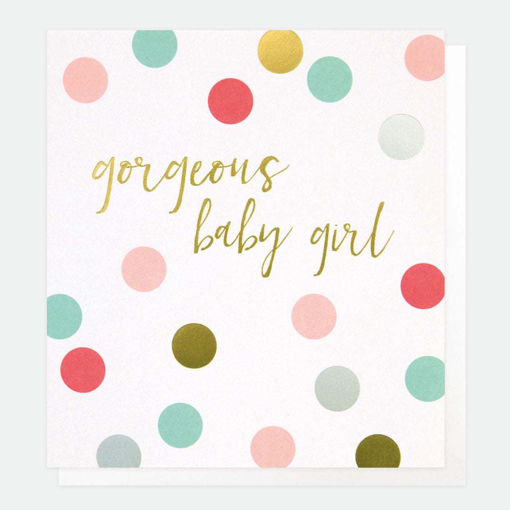 Gorgeous Baby Girl Card - Caroline Gardner