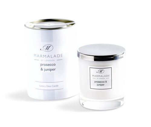 Marmalade Of London Prosecco & Juniper Luxury Glass Candle