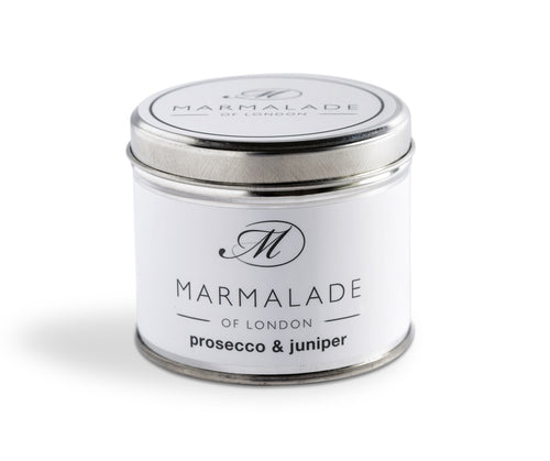 Marmalade Of London Prosecco & Juniper Medium Tin Candle