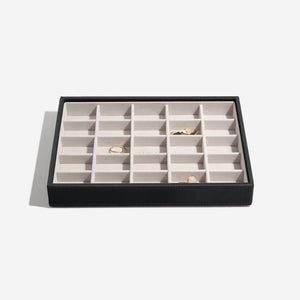 Stackers Black 25 Section Compartment Tray