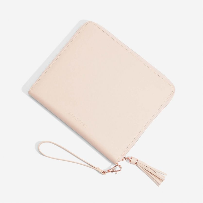 Stackers Blush Clutch Bag Organiser