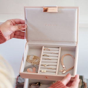 Mini Stackers Blush Lidded Jewellery Tray