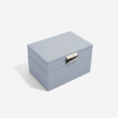 Stackers Dusky Blue Mini Jewellery Box - Free Delivery