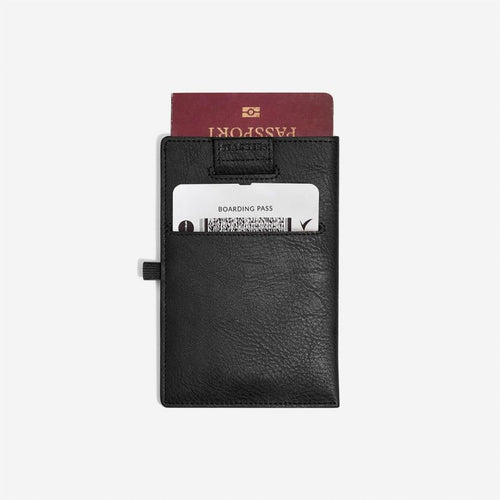 Stackers Mens Black Passport Sleeve
