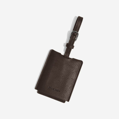 Stackers Mens Brown Luggage Tag