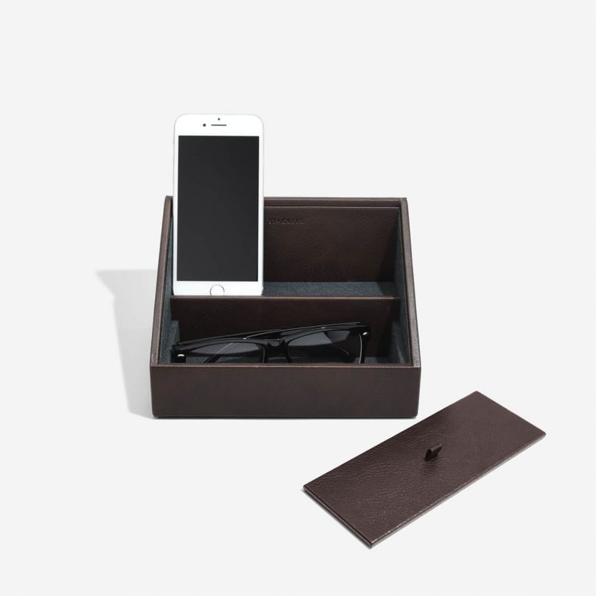 Stackers Brown Phone Valet