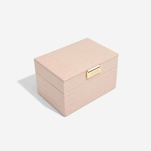 Stackers Pink Croc Mini Jewellery Box - Free Delivery
