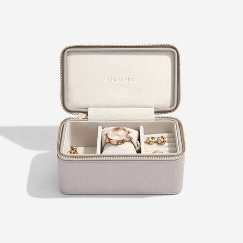 Stackers Taupe Deep Watch Travel Jewellery Box