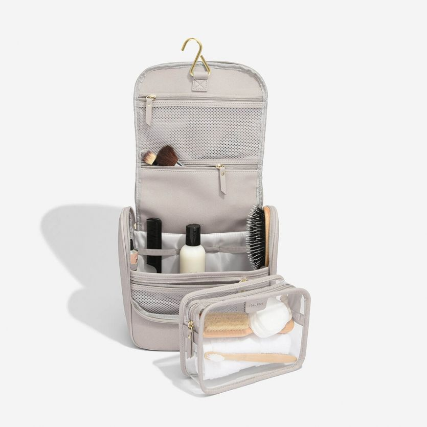 Stackers Taupe Hanging Wash Bag