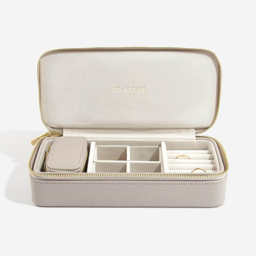 Stackers Taupe Large Travel Jewellery Box