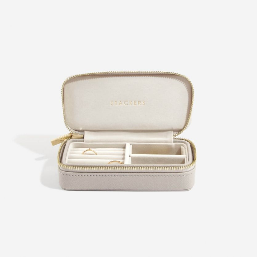 Stackers Taupe Medium Travel Jewellery Box