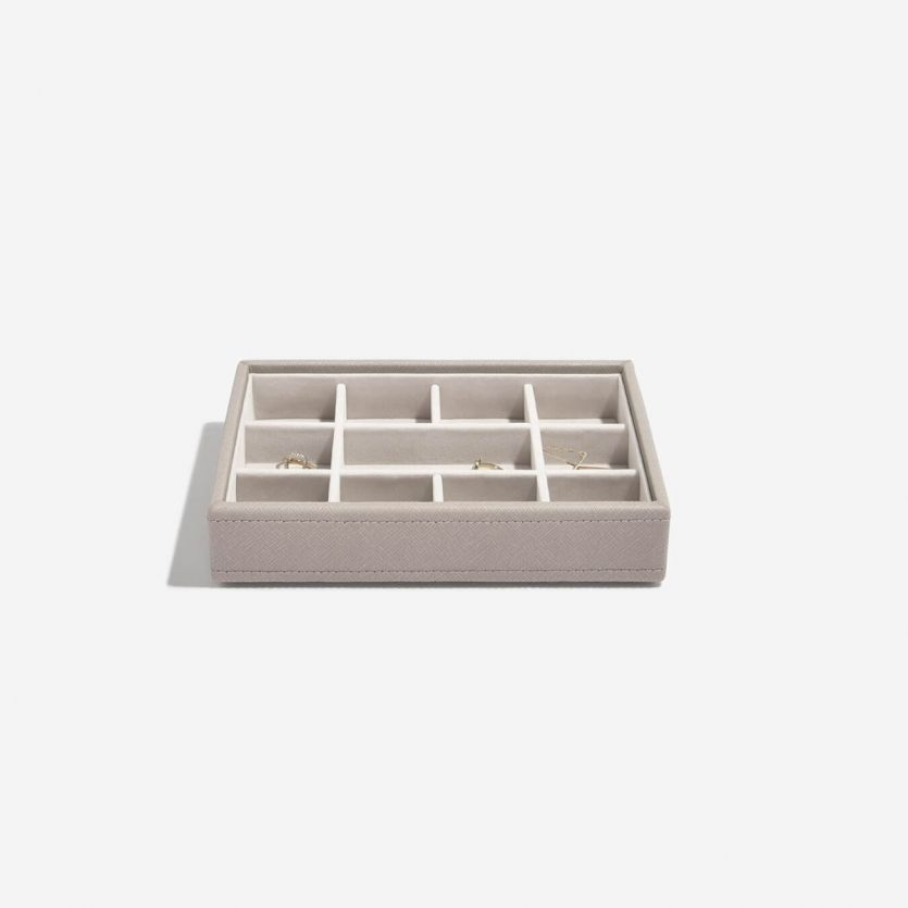 Mini Stackers Taupe 11 Section Jewellery Tray