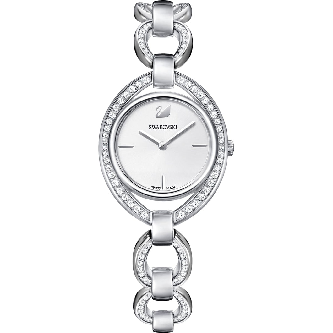 Swarovski Stella Watch White with Stainless Steel Strap