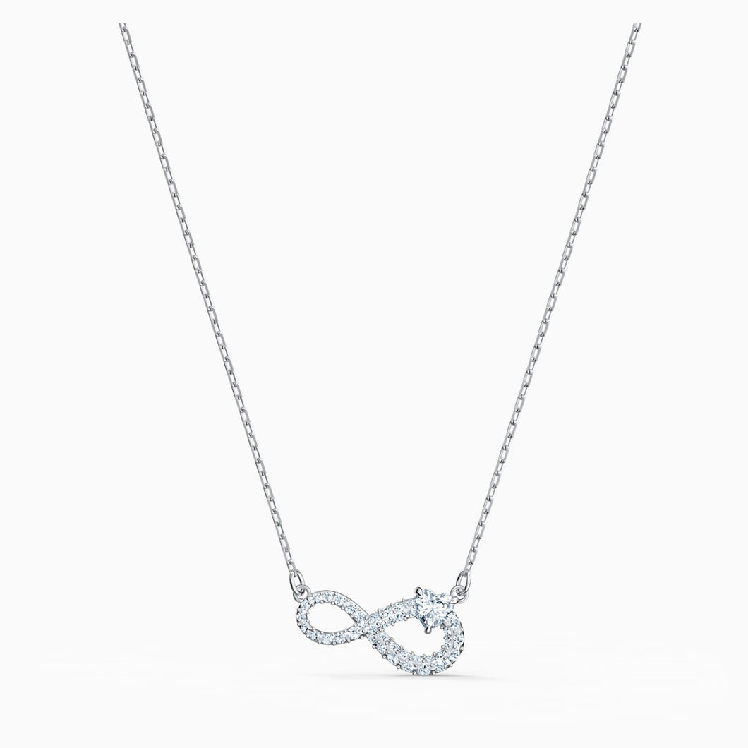 Swarovski Infinity Necklace, Rhodium Plated