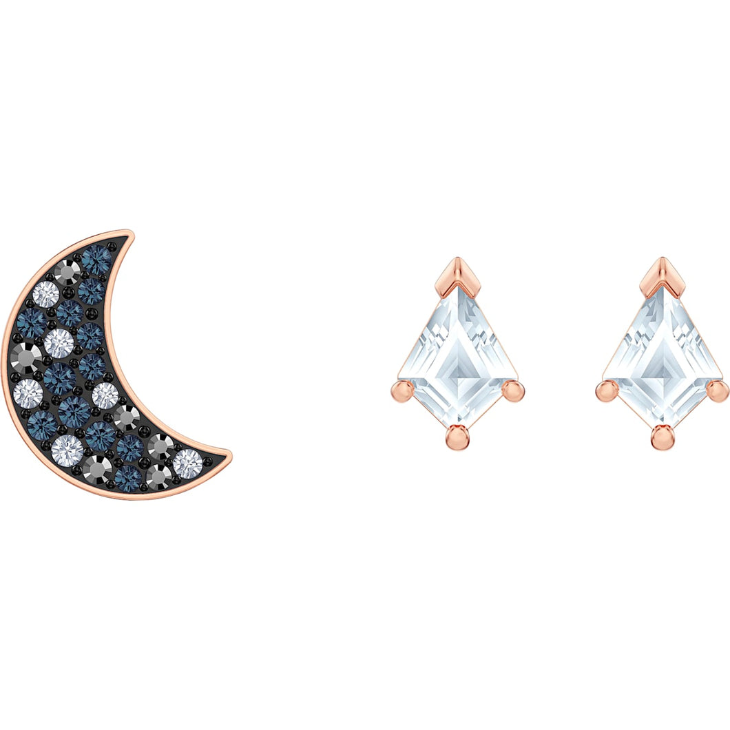 Swarovski Symbolic Pierced Earrings set, Multi-coloured, Rose-gold tone plated