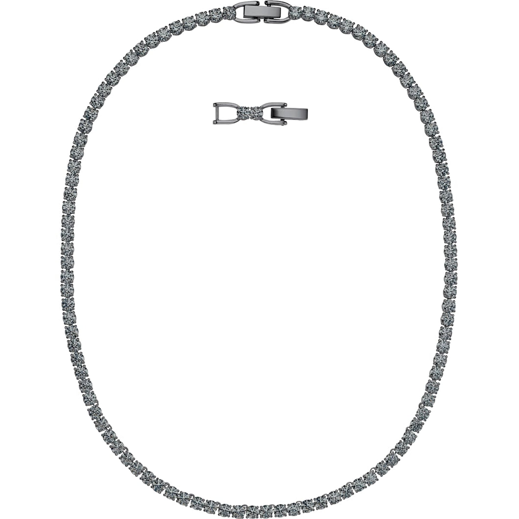 Swarovski Tennis Deluxe Necklace Black