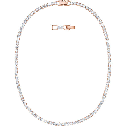 Swarovski Tennis Deluxe Necklace Rose Gold